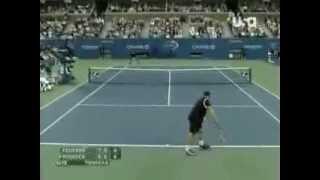 Roger Federer - How to return 140 mph Andy Roddick serve
