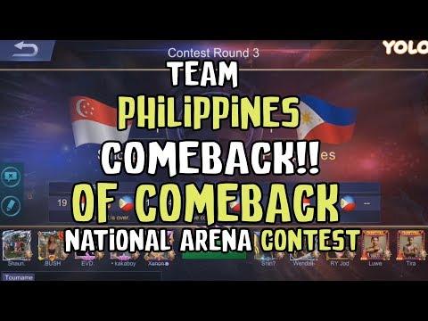 COMEBACK OF COMBACK TEAM PHILIPPINES VS TEAM SINGAPORE