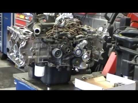Time Lapse 1999 Subaru Forester 25 DOHC Head Gasket Job