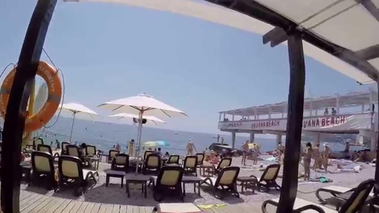 Ялта,Массандровский пляж,10 июня 2016 года - YouTube