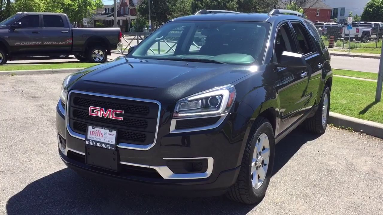 Pre-Owned 2014 GMC Acadia AWD Rear Camera And Parking Sensors Black Oshawa  Stock #171447A