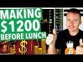 Day Trading Making $1200 Before Lunch!