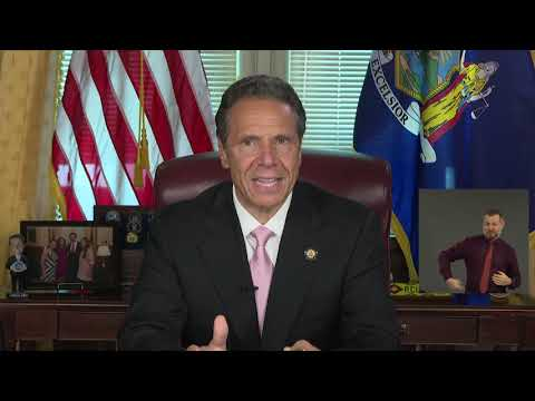 Gov. Andrew Cuomo delivered an Oval Office-type speech in his final COVID-19 daily briefing.