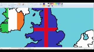 Europe-drawing Western Europe flags #3