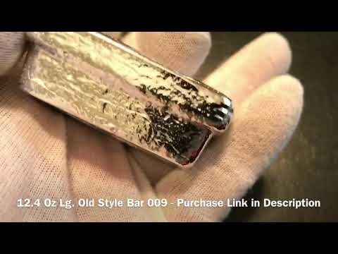 Pouring Silver: 2 Cast Iron WinterPours- Old Style Bars 009 & 010