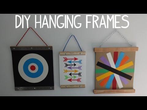 DIY Hanging Wall Art / Photo Frame