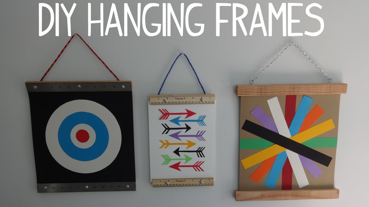 diy hanging wall art photo frame youtube. Black Bedroom Furniture Sets. Home Design Ideas