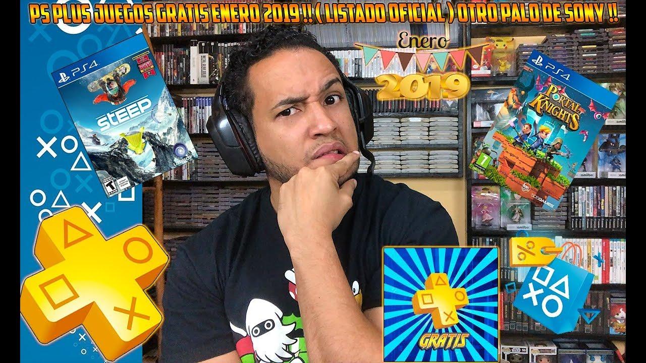 Ps Plus Juegos Gratis Enero 2019 Listado Oficial Youtube