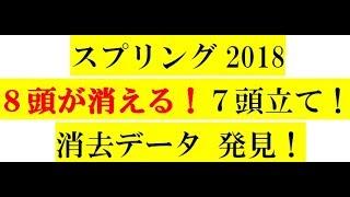 スプリングS2018【消去データ】8頭が消える!7頭立て!徹底分析
