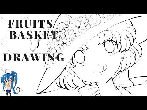 The Fruit Basket - Pencil and Ink Drawing