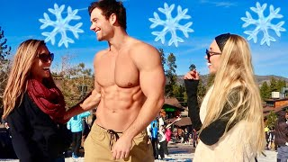 Picking Up Girls Shirtless in the SNOW! | Connor Murphy