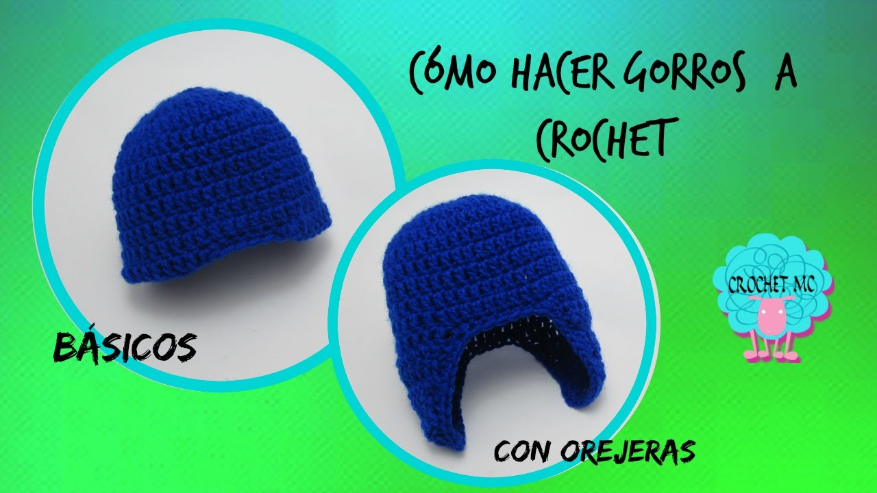 Tutorial gorro básico a crochet en todas las tallas - YouTube 724bd778de8