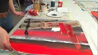 Repeat youtube video pittura materica - come applicare materiali sui quadri