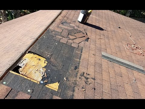 Asphalt Shingle Roofing Water Damage Repair
