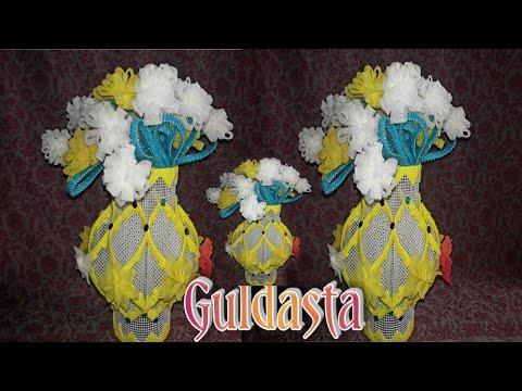 गुलदस्ता/ plastic canvas aur foam woollen ka Guldasta/ 2019 Guldasta car  banane ka Vidhi