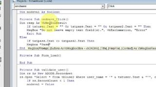 Add Edit Delete Records in Visual Basic 6 and MS Access