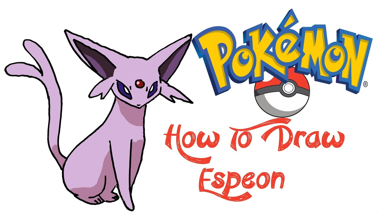 how to draw espeon pokemon youtube