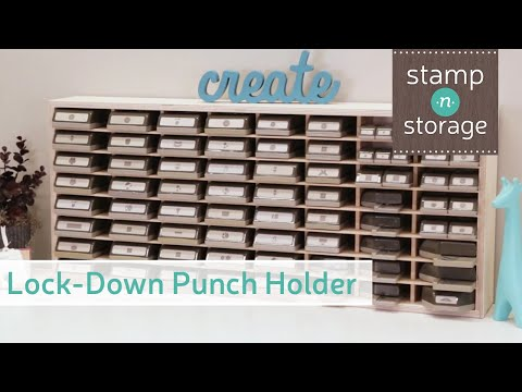 Large Lock Down Punch Holder Wall Mount