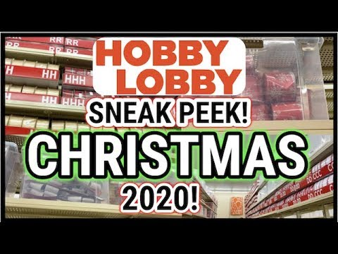Whats Is New In Hobby Lobby For Christmas 2020? HOBBY LOBBY CHRISTMAS DECORATIONS SNEAK PEEK 2020 | CHRISTMAS 2020