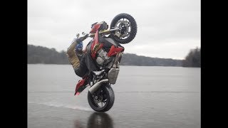 Wheeling on Ice at BMW S1000R