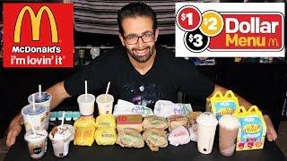 McDonalds $50 New Dollar Menu Challenge (DOUBLED) w/ Killer Kennedy | Freak Eating w/ Charlie