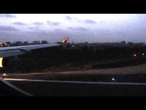 Departure from Dakar International Airport on South African Airways (Senegal)