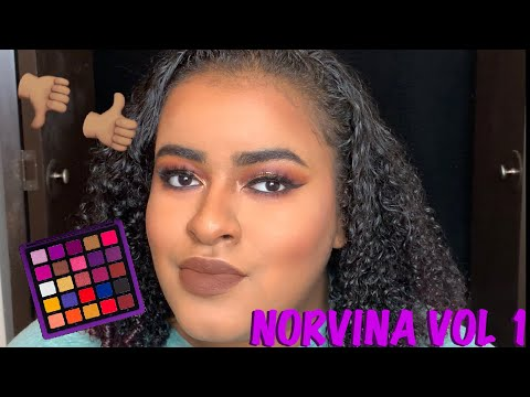 FALL GLAM USING THE NORVINA VOL 1 PALETTE | CUT CREASE WITH GLITTER thumbnail