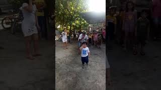 2 years old chinito playing game