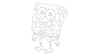 How to draw Spongebob Squarepants - Easy step-by-step drawing lessons for kids