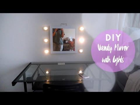 DIY Vanity Light Mirror | UNDER $30!