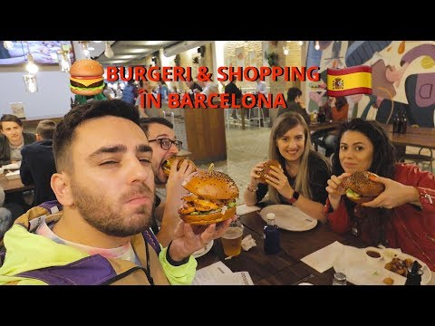 Shopping și burgeri în Barcelona! (Daily Vlog, Ziua 1)