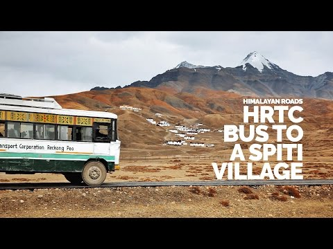 Nerve-Racking Himalayan Ride in an HRTC Bus