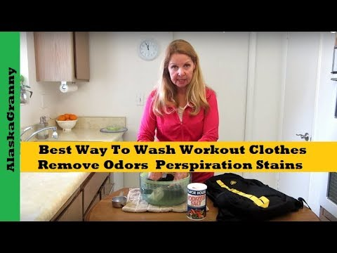 how to get perspiration stains out