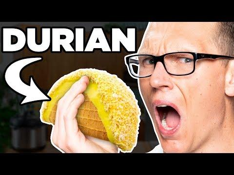 Durian (SMELLY FRUIT!) Choco Taco Taste Test | FOOD FEARS