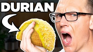 Durian (SMELLY FRUIT!) Choco Taco Taste Test | FOOD FEARS