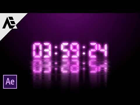 After Effects Tutorial: Countdown Timer Floor Reflection Effect (No Plugins)