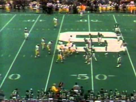 1987 UNIV OF MICHIGAN VS WASHINGTON ST FOOTBALL PROGRAM