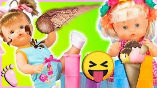 Download Video 🍦 Noa et Noé jouent le défi des GLACES 😋 La bébé Noé choisie le mauvais parfum et sa sœur se moque MP3 3GP MP4