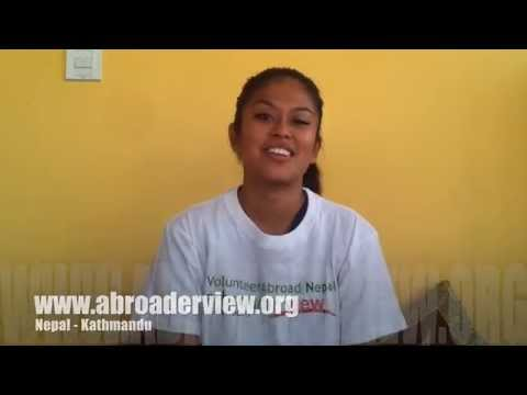 Video review Volunteer Claudia Leano in Kathmandu Nepal Medical program Abroaderview.org