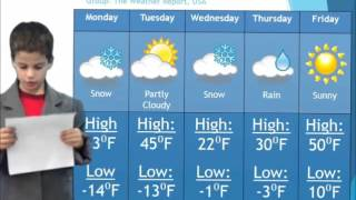 Weather Forecast Reader's Theater- The Weather Report USA