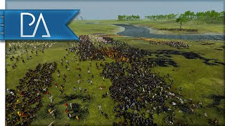 EPIC RIVER CROSSING BATTLE - Age of Vikings Total War Mod Gameplay