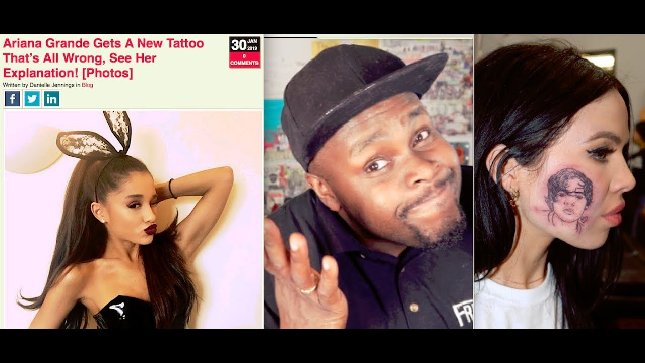 Ariana Grande Bad Japanese Tattoo Girls Gets Harry Styles Face
