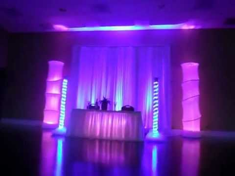 Orlando Wedding Lighting Head Table Lighting Led Column Dj