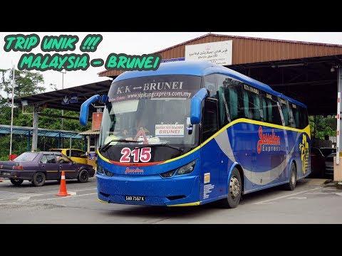 TRIP UNIK Malaysia ke Brunei Dengan Bus - 8 KALI STEMPEL PASPOR   Trip Jesselton Express KK - BSB