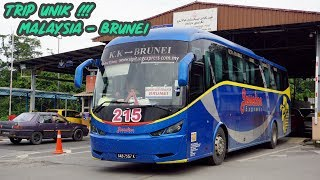 TRIP UNIK Malaysia ke Brunei Dengan Bus - 8 KALI STEMPEL PASPOR | Trip Jesselton Express KK - BSB