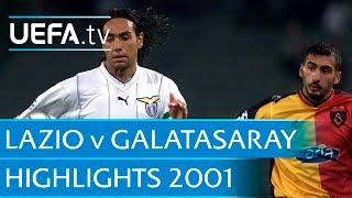 Galatasaray v Lazio: 2001 UEFA Champions League highlights