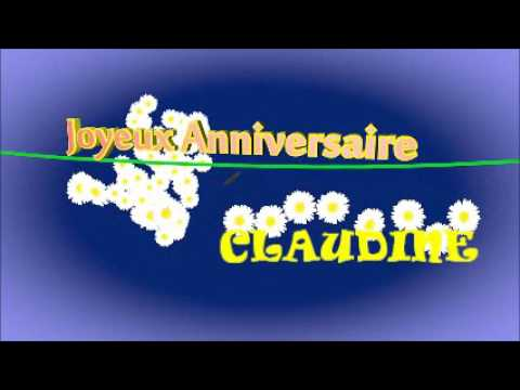 Anniversaire Claudine Youtube