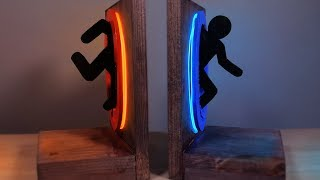 DIY Neon Portal Bookends - They GLOW in the Dark!