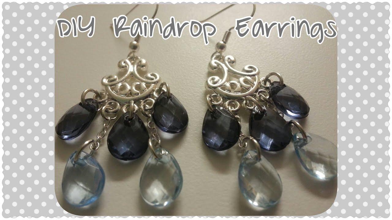 Diy raindrop chandelier earrings youtube diy raindrop chandelier earrings aloadofball Choice Image