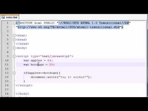 Beginner JavaScript Tutorial - 14 - If Statement